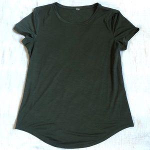 Lululemon Green Silky T Shirt
